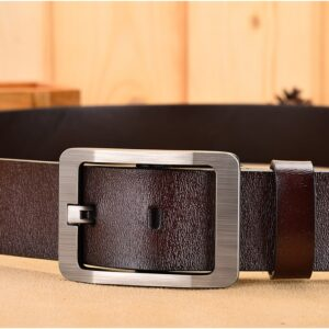 NO.ONEPAUL Genuine Leather men belt fashion leather belts men luxury brand belts for men high quality Square retro pin buckle