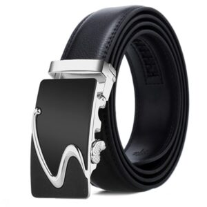 [DWTS] Belts For Men Genuine Leather Belt Men Belt Male Top Quality Automatic Buckle black Strap Cummerbunds cinturon hombre