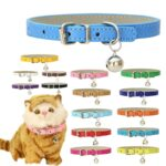 Leather-Small-Dog-Cat-Collar-with-Bell-Safety-Adjustable-Cat-Kitten-Straps-Puppy-Necklaces-Chihuahua-Collars-Pet-Supplies