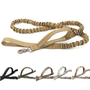 Tactical Bungee Dog Leash 2 Handle Quick Release Cat Dog Pet Leash Elastic Leads Rope Military Dog Training Leashes