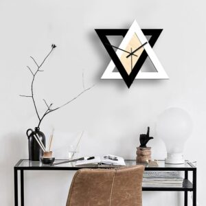 Nordic Personality Black and White Creative Wall Clock Vintage Mute Minimalist Decorative Clock