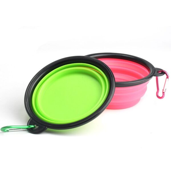1PC Foldable Silicone Bowl for Pet Candy-Colored Outdoor Travel Portable Nursing Pitcher Pet Dog Bowl