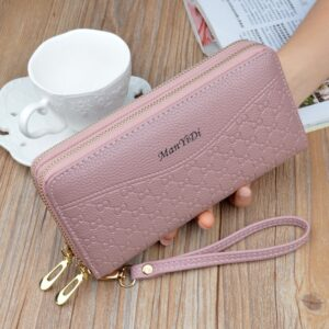 Women Long Wallets Double Zipper Clutches Purse Big Capacity Fashion Wristlet Wallet Cash Phone Card Holder Lady Wallets