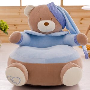 Baby Kids Sofa Only Cover NO Filling Cartoon Crown Bear Seat Children Chair Seat Puff Skin Toddler Children Cover For Sofa Seat