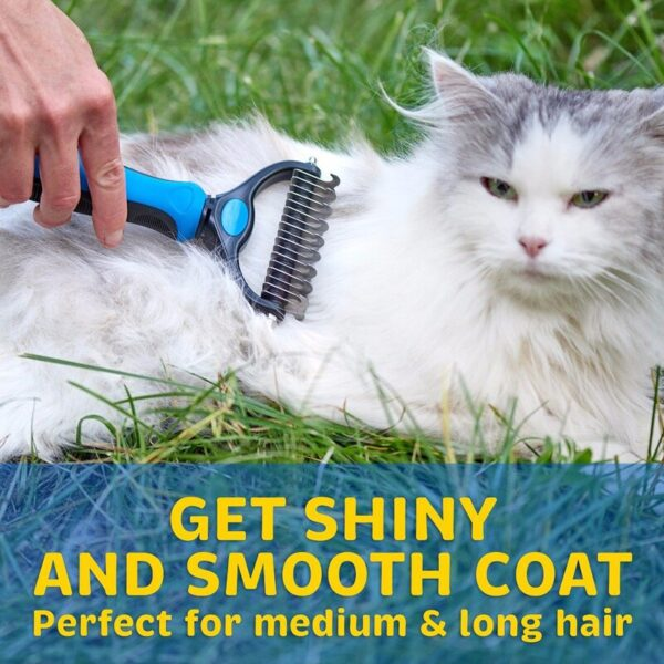 Pet Fur Knot Cutter Dog Grooming Shedding Tools Pet Cat Hair Removal Comb Brush Double sided Pet Products