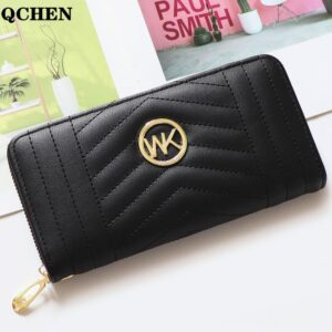 Wallet Women Long Luxury Brand Leather Coin Purses Tri-fold soft skin buckle Clutch Female Money Bag hand Credit Card Holder 763