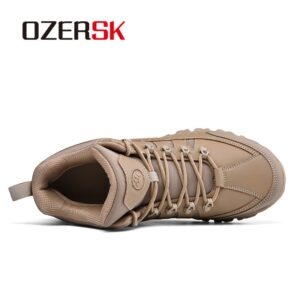 OZERSK Non-Slip Hiking Shoes For Men Women Breathable Tactical Climbing Trekking Shoes Unisex Outdoor Sneakers Walking Shoes