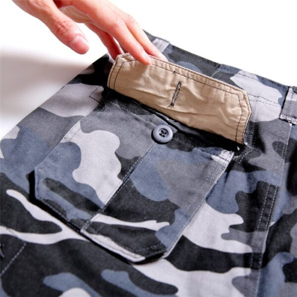 2020 Summer Mens Baggy Multi Pocket Military Camo Shorts Cargo Loose Hot Breeches Male Long Camouflage Bermuda Capris Plus Size