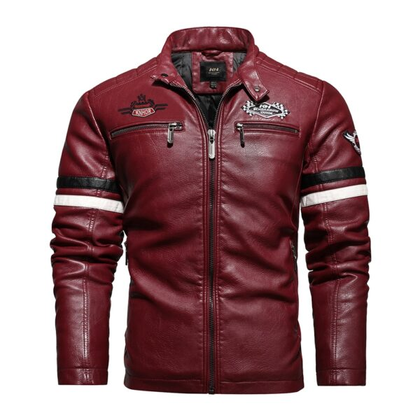 Fashion Brand Men's Retro PU Jackets 2020 Men Slim Fit Motorcycle Leather Jacket Outwear Male Warm Bomber Military Outdoor Coat