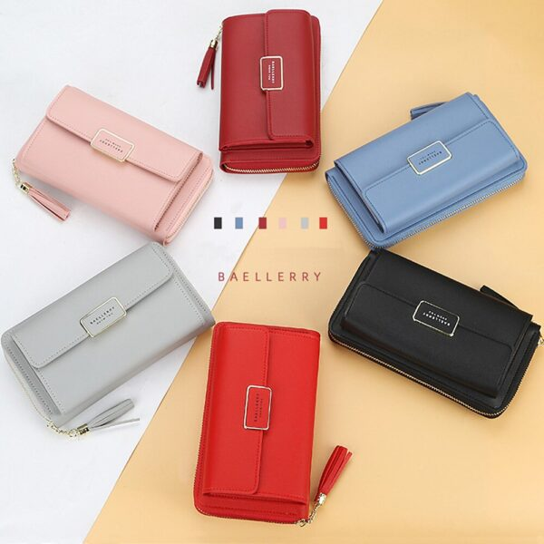 2020 Fashion Long Women Wallets High Quality Sequined PU Leather Card Holder Female Purse Zipper Brand Wallet For Girl