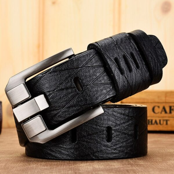 [DWTS]belt male leather belt men genuine leather strap luxury pin buckle casual men belt ancy vintage jeans high quality