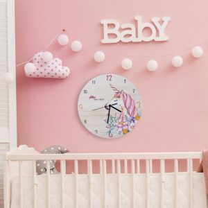 Fashion Horse Flower Wall Clock Living Room Bedroom Hanging Table Silent Quartz Mute Children Room Cartoon Wall Clock Home Decor
