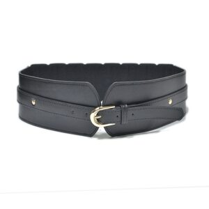 Luxury ladies wide belt elastic vintage buckle leather wide fashion wild pin buckle women's belt waist seal belt x208