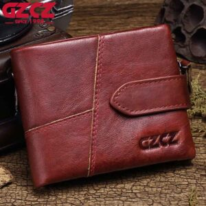 GZCZ 2020 Genuine Leather wallet for Women Wallet Purse Female Luxury Cow Leather Business Women's Handbag Genuine Leather Pouch