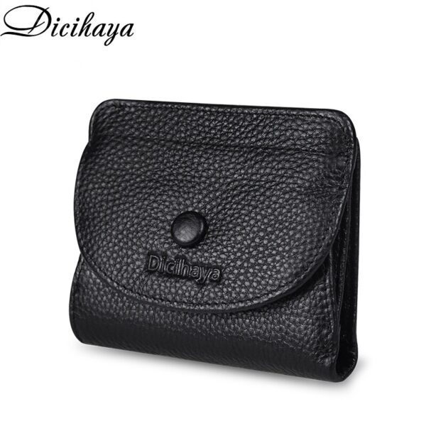 DICIHAYA 2020 Small Real Leather Wallet Credit Card Holder Men And Women COWHIDE RFID Purse MINI Genuine Leather Fashion Wallets