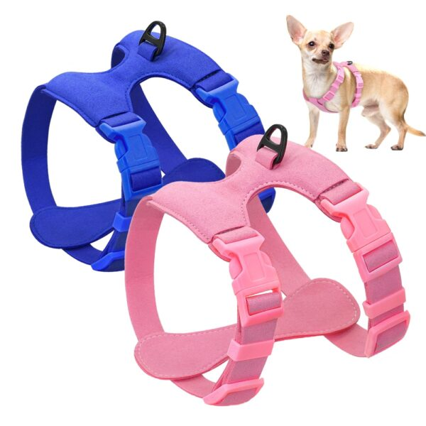 Dog Harness For Small Dogs Chihuahua Yorkie Ajustable Soft Leather Pet Puppy Harness Vest Pink Petshop