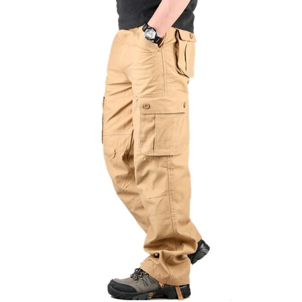 Mountainskin Men's Cargo Pant Casual Multi Pockets Solid Color Military Tactical Pants Army Straight Slacks Long Trousers SA497