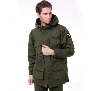 Military Uniform Men's M65 Trench Coat Male Solid Camouflage Wadded 101st Airborne Force Fleece Jacket Coat Men Clothing BF802
