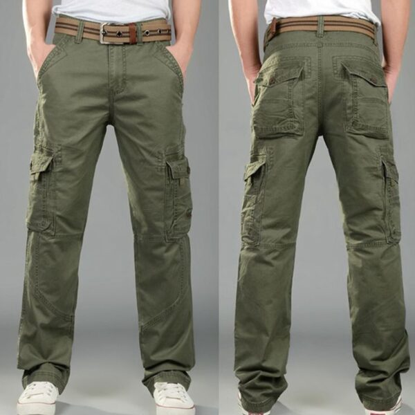 Army Cargo Pants Men Casual Multi Pockets Pants Homme Male Streetwear Combat Military Tactical Cotton Trousers hip hop Clothes