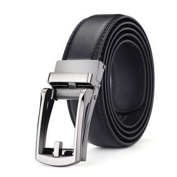 [DWTS]Top quality cow genuine leather men's belt cowhide strap for male automatic buckle belts for men alloy buckle belt