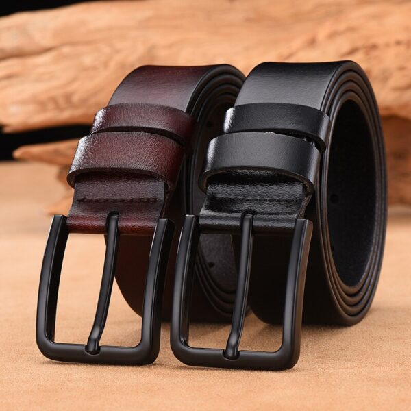 DWTS cow genuine leather luxury strap male belts for men new fashion classice vintage pin buckle leather belt male belt men