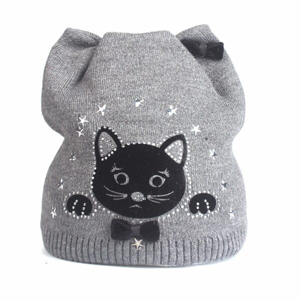 Xthree cute kitty children's winter autumn hat knitted hat baby cotton beanies hat for girl