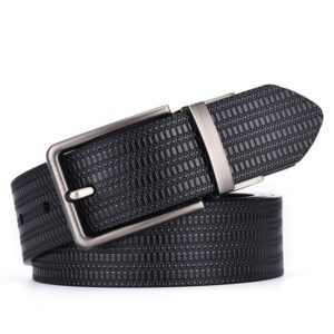 [DWTS] Men Belt New High Quality Cow Genuine Leather Luxury Strap Male Belts For Men Fashion Classice Vintage Pin Buckle