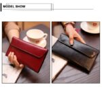 New-Quality-Genuine-Leather-Women-Wallet-Large-Capacity-Money-Bag-Solid-Color-Lady-Clutch-Bags-Multifunction-Purse-Phone-Bag