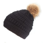 Xthree-Hot-sale-polyester-knitted-beanie-cap-with-faux-fur-pom-pom-winter-hats-for-women-outdoor-pop-ski-caps-cheap-hat
