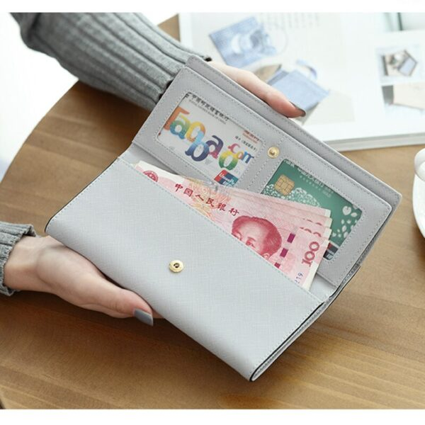 2020 Women Wallet Stylish PU Leather Long Wallets Fashion Female Purse Hasp Clutch Money Big Capacity Cards Holder Coin Purse