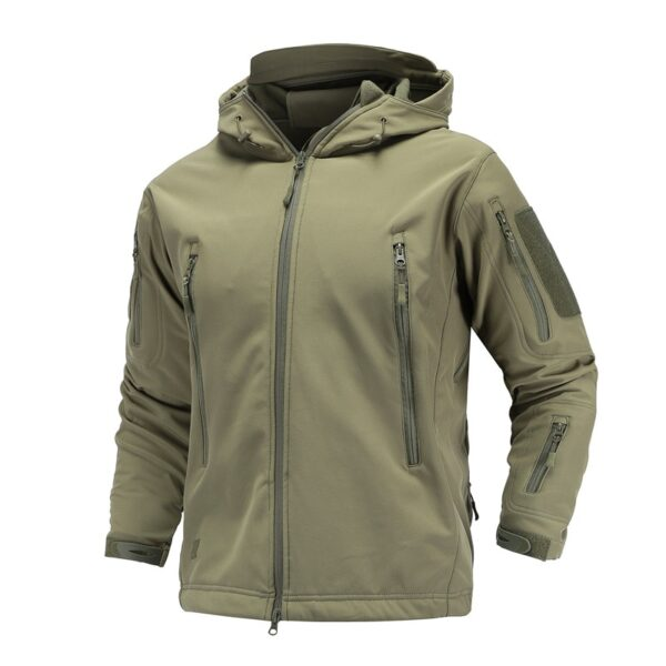 Military Tactical Jacket coat men's autumn Army Camouflage Waterproof jacket SoftShell man Windbreaker Hooded Camo Hunt Clothes