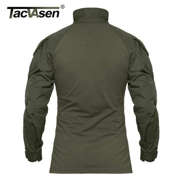 TACVASEN Men Camouflage Tactical T-shirts Summer Army Combat T Shirt Cotton Military T-shirt Airsoft Paintball Hunt Clothing Men