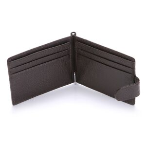 CUIKCA RFID Wallet Genuine Leather Men Wallet Carteira Cowhide Money Clip HASP Short Slim Wallet Business ID Credit Card Cases