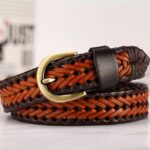 [DWTS]-2019-Fashion-Mens-belts-luxury-genuine-leather-Brown-braided-Real-Cow-skin-straps-men-Jeans-Wide-girdle-Male-120-cm