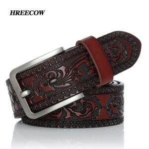 Belts For Men High Quality Cow Genuine Leather Designer Belt Male Fashion Classic Vintage Pin Buckle Strap For Cowboy Jeans
