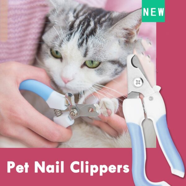 Professional Pet Cat Dog Nail Clipper Cutter Stainless Steel Grooming Scissors Clippers Claw Nail Scissors with Lock