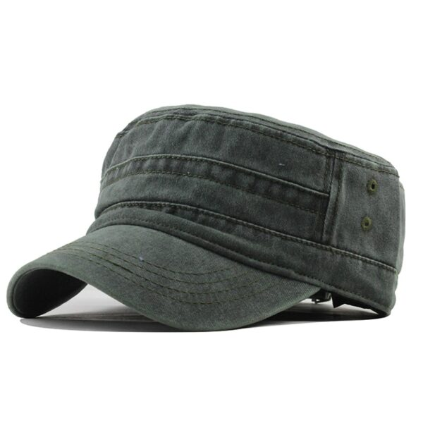 [FLB] 2019 Classic Vintage Flat Top Mens Washed Caps And Hat Adjustable Fitted Thicker Cap Winter Warm Military Hats For MenF314