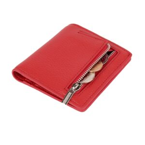 Fashion Mini Wallet Women Genuine Leather Wallets Female Hasp Zipper Design Coin Purse ID Card Holder Slim Wallet Lady Coin Bag