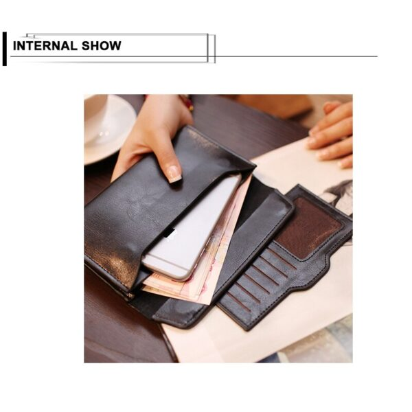 New Quality Genuine Leather Women Wallet Large Capacity Money Bag Solid Color Lady Clutch Bags Multifunction Purse Phone Bag