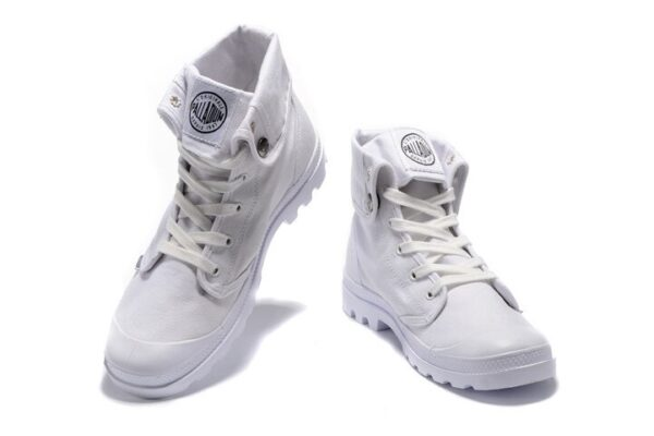 PALLADIUM Pallabrouse All White Sneakers Men High-top Military Ankle Boots Canvas Casual Shoes Men Casual Shoes Size 39-45