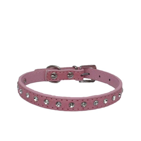 1PCs Small Dog Collar Crystal Hot Bling Rhinestone Pu Leather Puppy Cat Collars Necklace Neck Strap Personality Pet Products