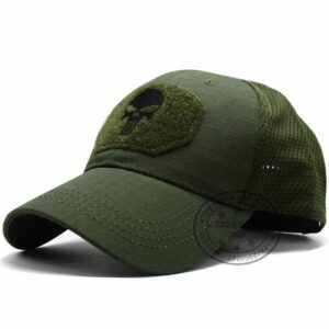 LIBERWOOD Skull Multicam Operator Cap Men Mesh summer Fitted Tactical Cap Special Force Sniper SWAT Hat place patch OD
