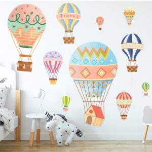 Cartoon Hot Air Balloon Wall Stickers Animals Kids room Baby Nursery Room Decoration Wall Decals Eco-friendly Art Vinyl Murals