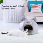 Cat Bed Cave Sleeping Bag Zipper Cat Shape Felt Cloth Cat House Bed For Cats Basket Bags Animals Beds Nest Cushion Pet Supplies