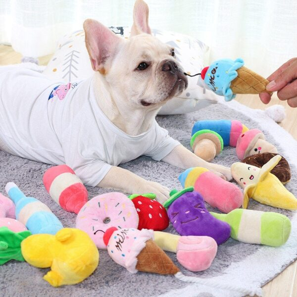 Squeak Toys For Dog Toy Fleece Dog Chew Toy Durability Plush Puppy Pet Sound Toy For Dogs Supplies Elephant Duck Pig Plush Toys