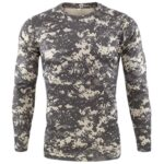 New Outdoor Quick Dry T Shirt Men Tactical Camouflage Long Sleeve Round Neck Sports Army Military Tshirt Camo Funny 3D T-shirt