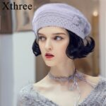 Xthree-Winter-Autumn-beret-hat-for-women-knitted-hat-for-mom-Rabbit-fur-beret-solid-fashion-lady-cap-fall-hat-Female-cap