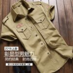 Military-Shirt-Men-Tactics-Short-sleeve-Summer-Tops-Solid-color-High-quality-100%-Cotton-Pocket-5XL-Plus-size-Man-Clothes