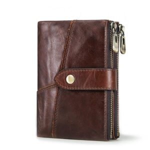 KAVIS Rfid Genuine Leather Wallet Men Coin Purse PORTFOLIO Male Portomonee Money Bag Small Card Holder Blue Color Fashion