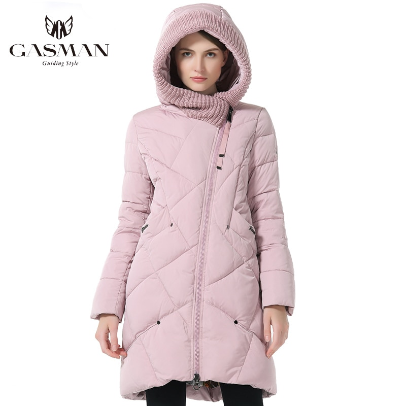 GASMAN 2019 Winter Collection Brand Fashion Thick Women Winter Bio Down Jackets Hooded Women Parkas Coats Plus Size 5XL 6XL 1702